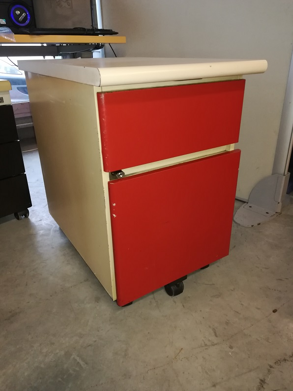 Caisson mobile beige-rouge