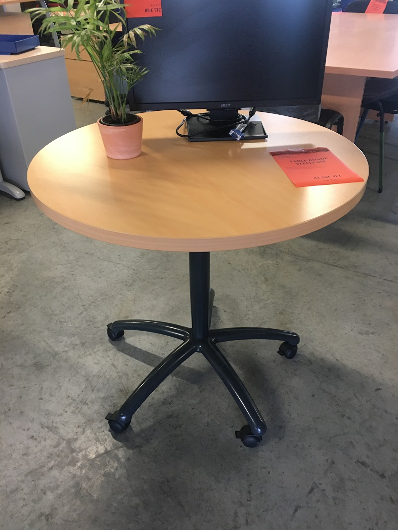 table ronde steelcase roulettes