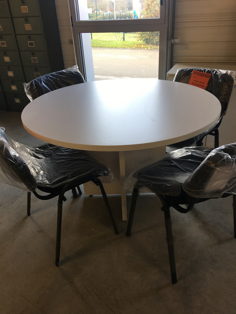 table ronde blanche 120 cm