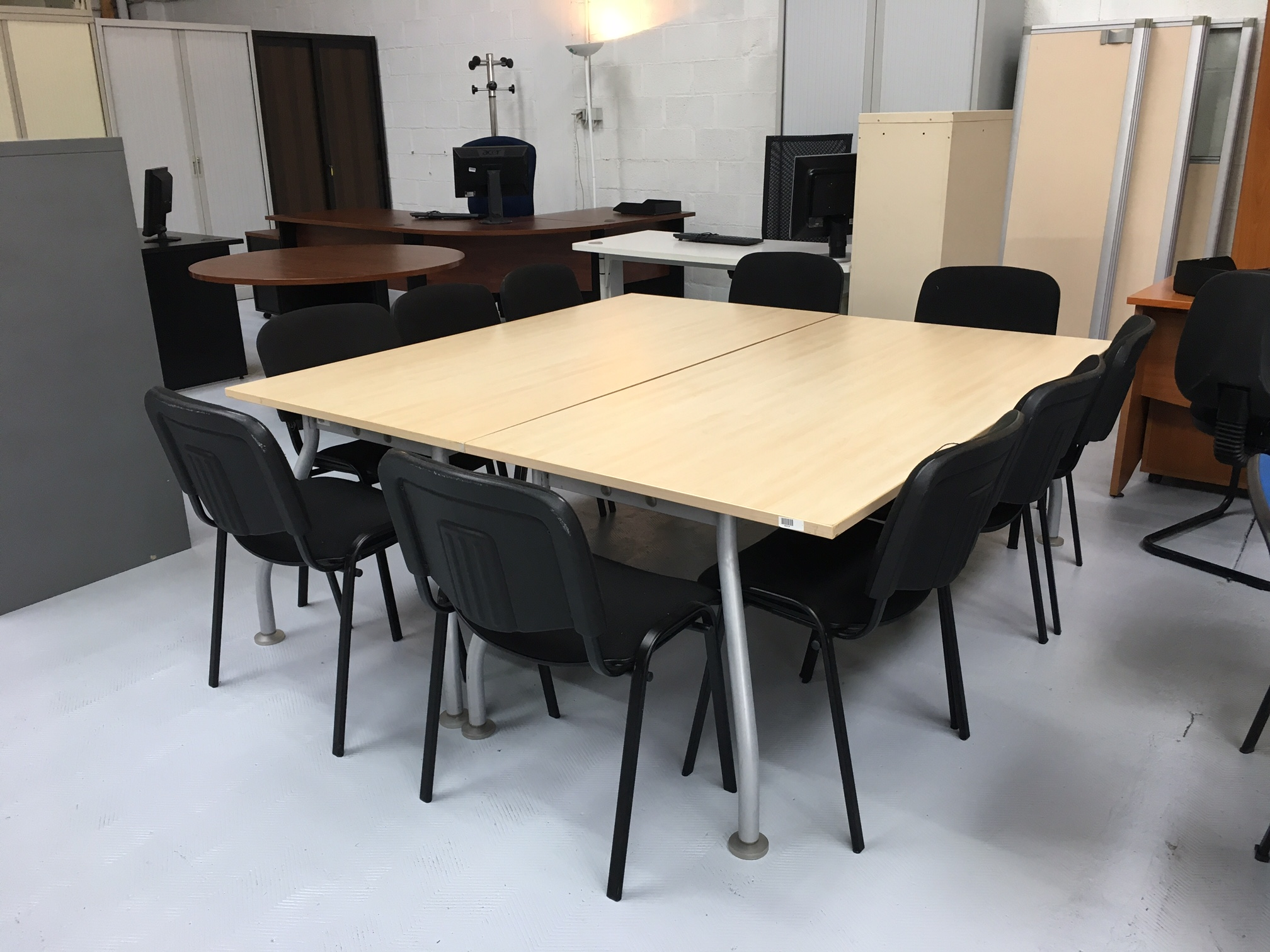 Lot 2 tables Werndl 180 x 180cm